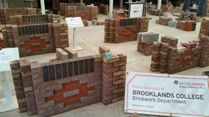 The winner of the inter-college brickwork competition I hosted at Brooklands college on 23rd April