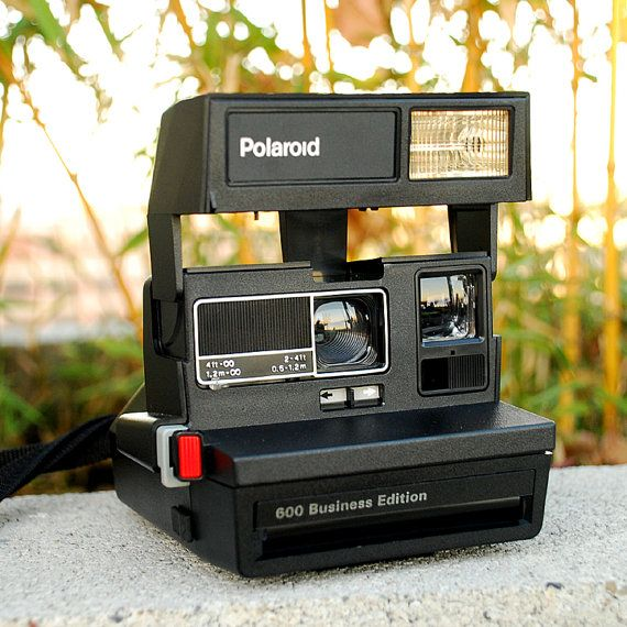 Vintage Polaroid Camera 600 Business Edition with Case by vint
