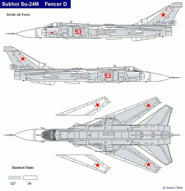 Su 24 Fencer, Air Force, Aircraft