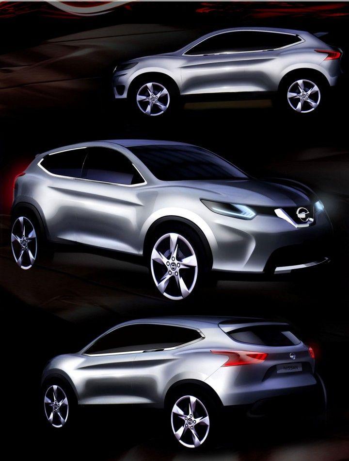 Nissan Qashqai design sketches