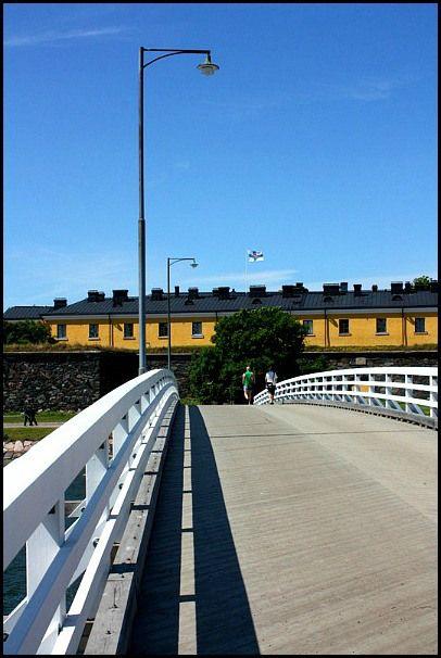 Crossing over the bridge at Suomenlinna Sea Fortress