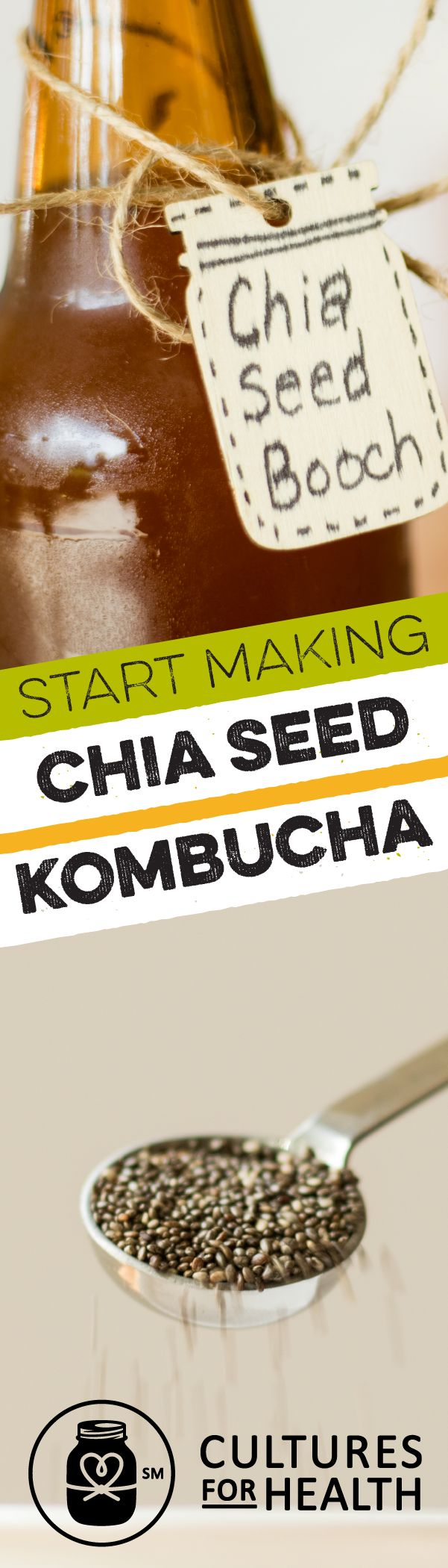 DIY Kit: Learn to make your own chia seed kombucha, a sweet and earthy update to your favorite fermented tea.