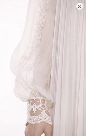 Valentina Vidrascu- folk blouse detail. delicate lace and silk.