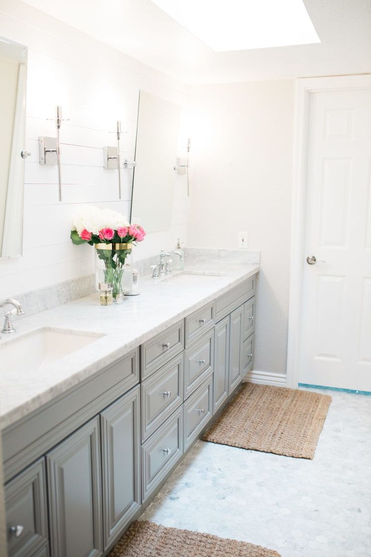 Master bathroom remodel design before and after on a budget white shiplap Cheap bathroom remodel before and after