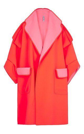 Neon Masterly Overcoat by MATICEVSKI for Preorder on Moda Operandi