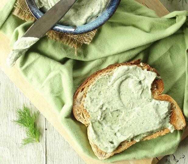 Crema untable de semillas de cáñamo, ajo y eneldo | #Receta de cocina | #Vegana - Vegetariana ecoagricultor.com