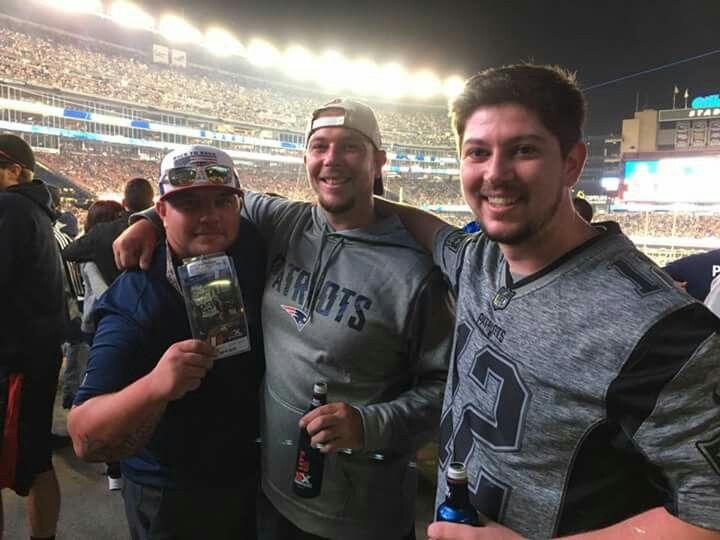 Alan,aaron,richie at patriots preseason game 2017