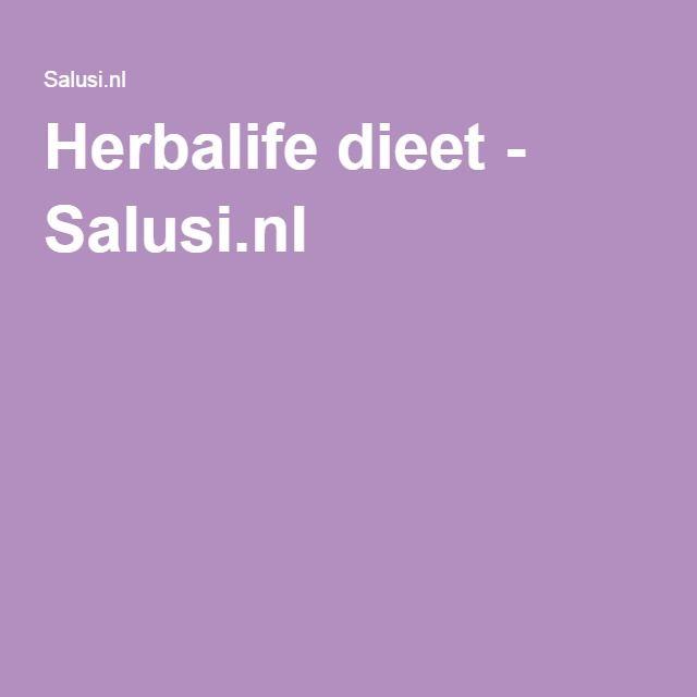 Herbalife dieet - Salusi.nl