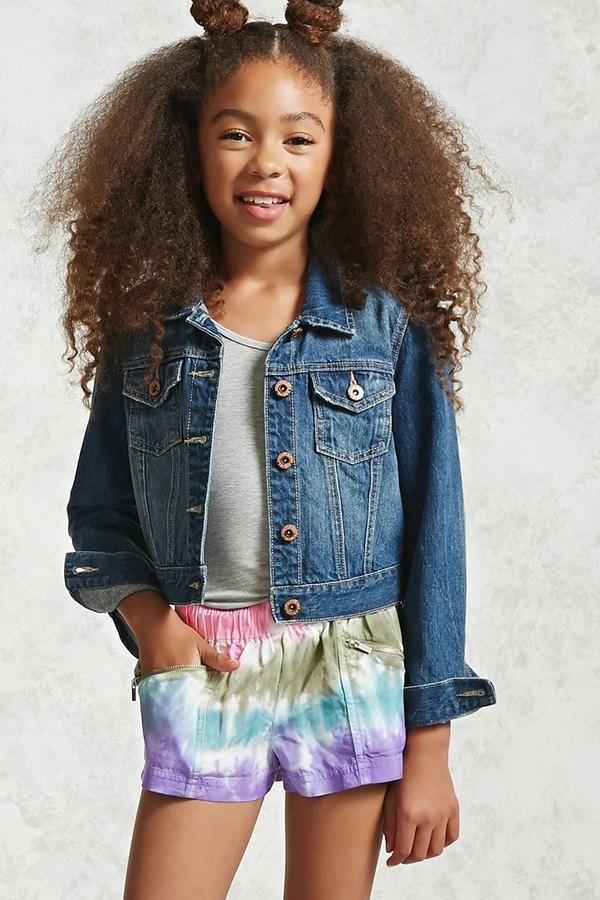 FOREVER 21 girls Girls Tie-Dye Shorts (Kids)