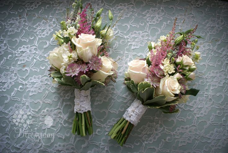 vintage pink bridesmaids bouquets   Flickr - Photo Sharing!
