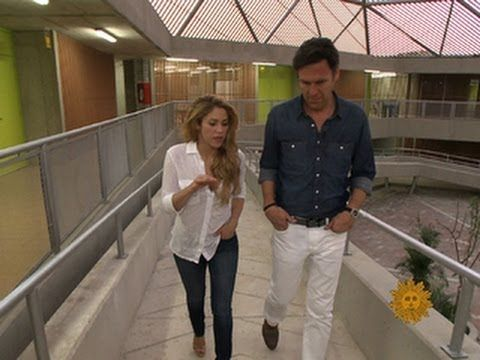 Shakira tours her new school in Colombia