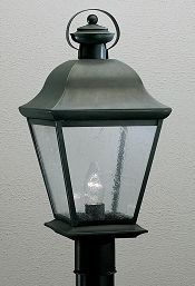 26 best outdoor lighting for territorial revival style house kichler lighting kichler outdoor post light with clear seeded glass mozeypictures Images