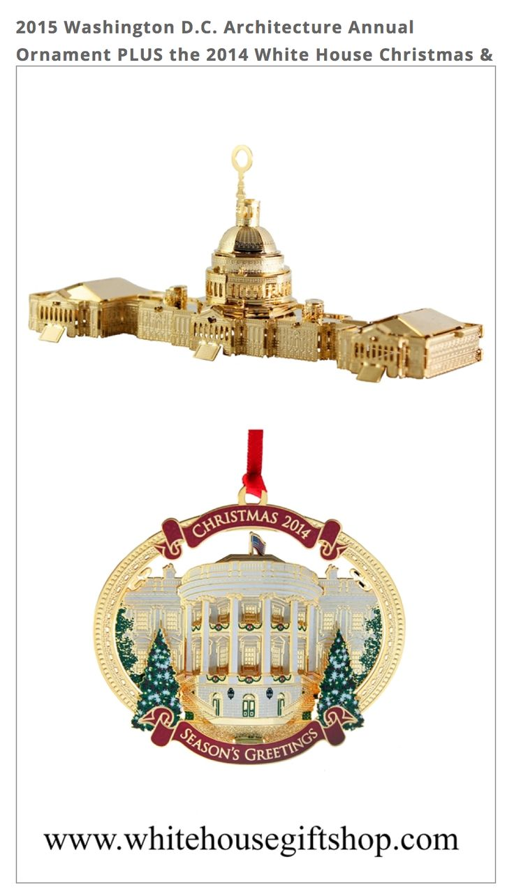White house christmas ornaments 1993 - The 2015 Washington D C Architecture Annual Ornament 2014 White House Christmas Holiday Ornament