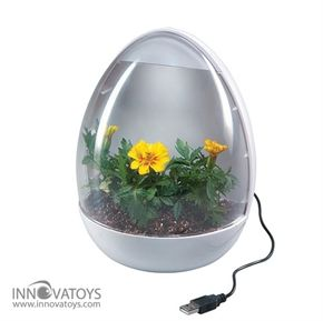 The USB Greenhouse welcomes gardening to the 21st Century. We all have coworkers and teachers who decorate their desks with potted plants.