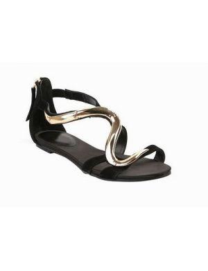 RAFFAELLA Gold Snake Wave Flat Sandals @Gail Regan Truax://www.shopjessicabuurman.com