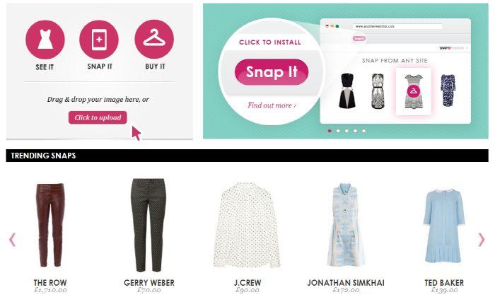 새로운 스타트업 :사진 이미지를 통해 패션상품 검색을 돕는 쇼핑검색엔진 SNAP FASHION
