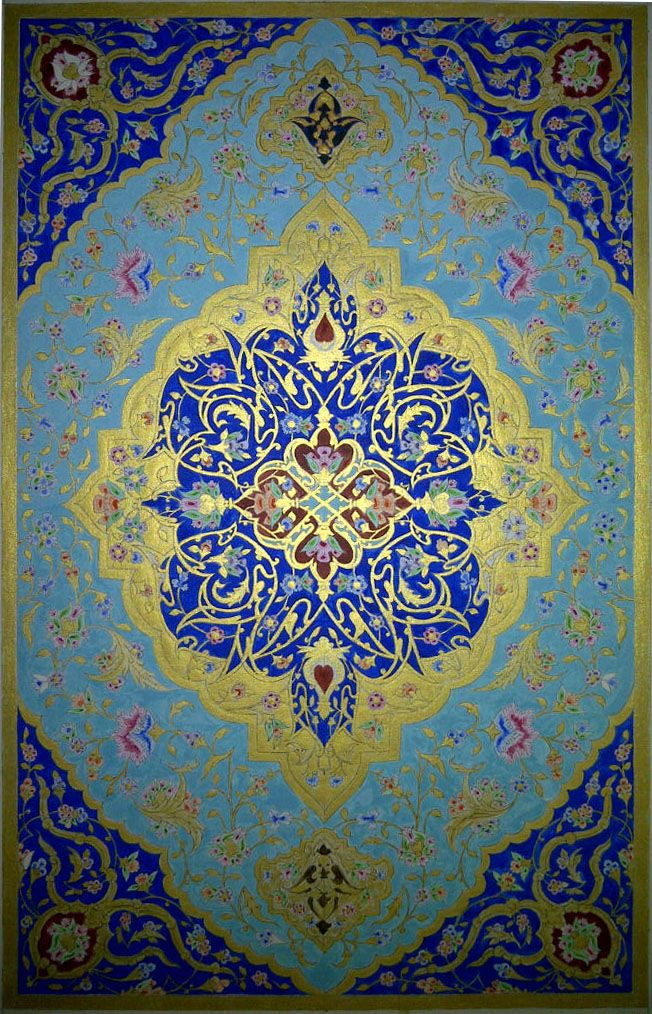 Tableau d'enluminure persane d'inspiration safavide (XVIème siècle)