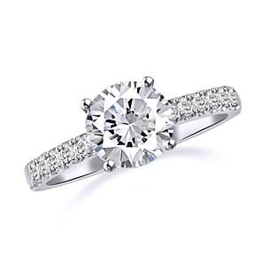 2 Carat Round Cut D VVS1 Solitaire Engagement Ring 18K White Gold Bridal Jewelry by JewelryHub on Opensky