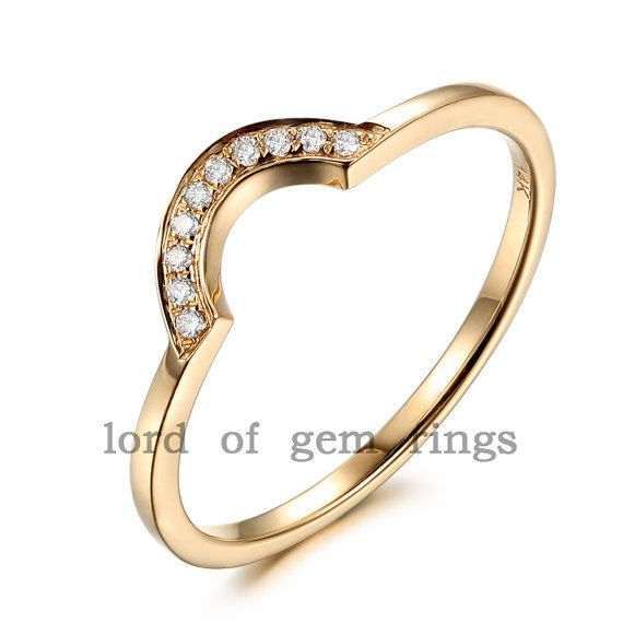 Matching Contour Wedding Band in 14K Yellow Gold by TheLOGR, 169.00