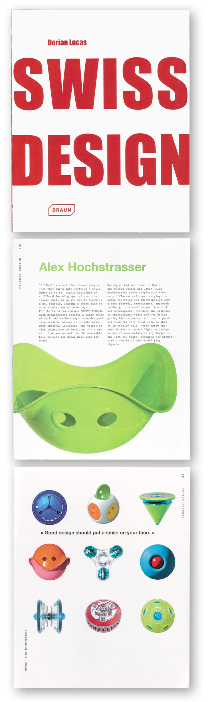 Cool book about Swiss Design featuring Bilibo and other toys by Alex Hochstrasser. #bilibo #swiss #design #alex_hochstrasser