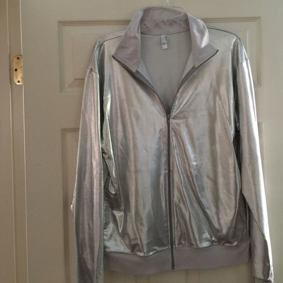 Silver zip up jacket. Silver zip jacket. American Apparel Jackets & Coats