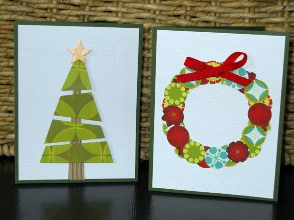 These homemade Christmas cards are easy to make. - Copyright Judith Mara.