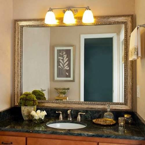 Chelsea Brushed Bronze Builder Grade Silver And Frame Bathroom Mirrors