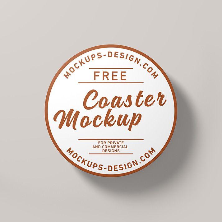 Free Round Coaster Mockup Mockups Design Photoshop Mockup Free Logo Design Mockup Logo Mockups Psd