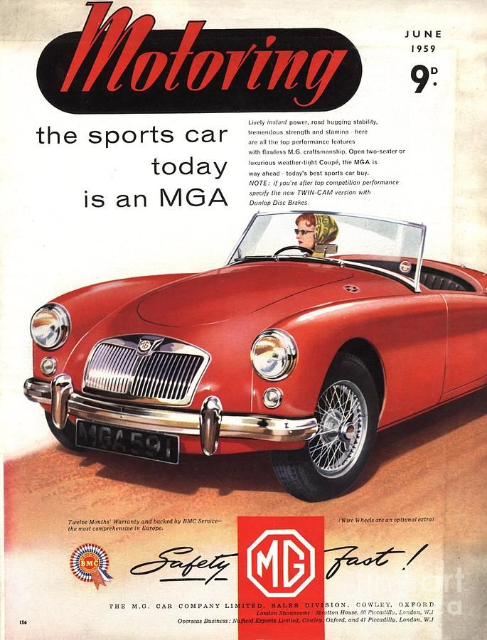 1950s Uk Cars Mg Convertibles by The Advertising Archives