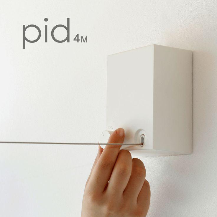 使いたい時だけ、ワイヤーを伸ばして干す。pidのある生活が、さりげなくそして当たり前になる。便利さを感じさせない便利さが新しい価値観へと導きます。