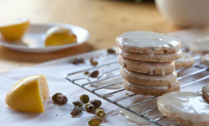 Lemon-Glazed Pistachio ShortbreadCookies Recipe - Relish