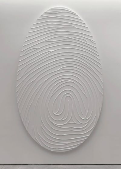 | DESIGN | marc quinn | white | identity | thumb print | fingerprint |