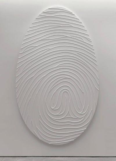   DESIGN   marc quinn   white   identity   thumb print   fingerprint  