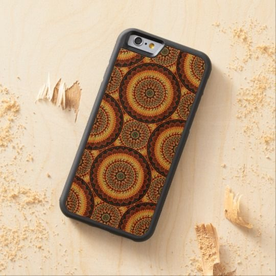 Colorful abstract ethnic floral mandala pattern carved® cherry iPhone 6 bumper case