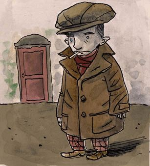Jean de Toulone. Un ladro piccoletto nella Marsiglia occupata dai nazisti. China, ecoline su carta. 2008.