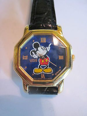 New Prism Crystal LORUS Mickey Mouse Watch Octagon Ladies Band