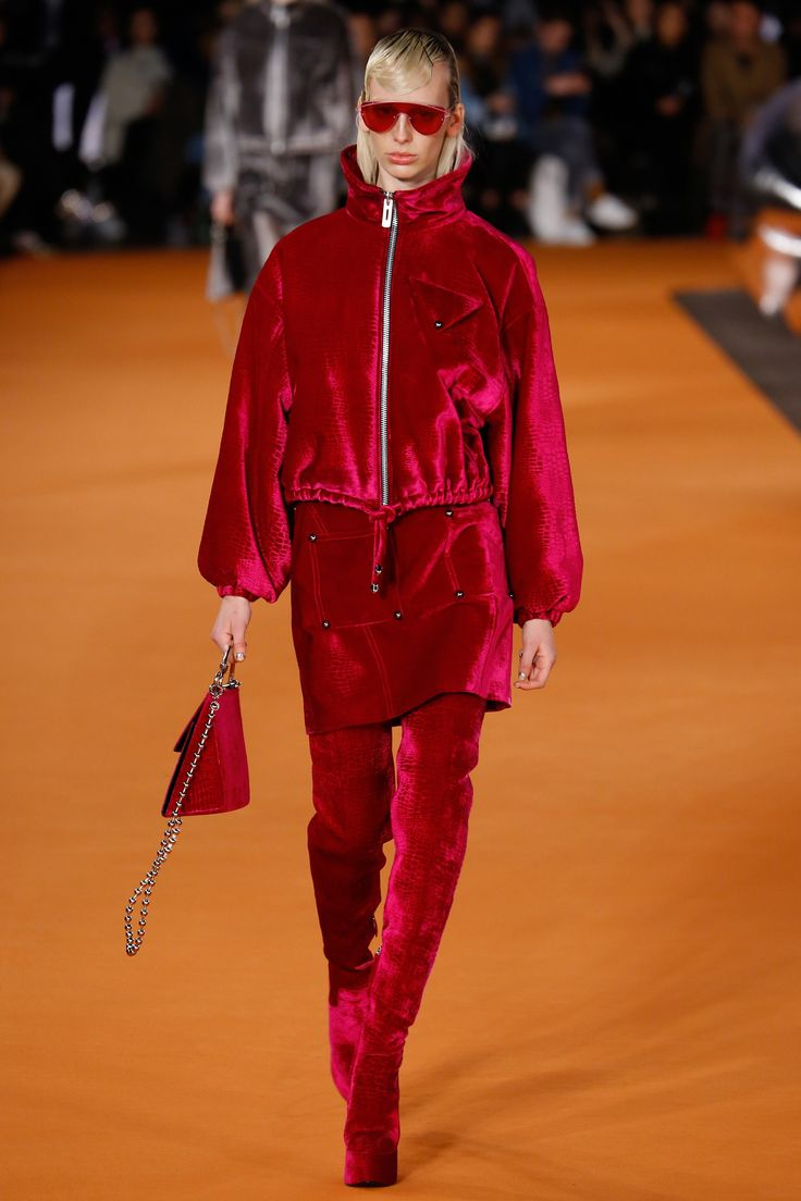 Opening Ceremony Fall 2016 Ready-to-Wear Collection Photos - Vogue...this raspberry velvet is fab, plus, if you're doing matchy-matchy you may as well go big or go home...