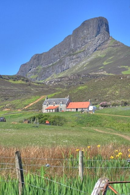 Galmisdale and An Sgurr - Eigg, Scottish Inner Hebrides.