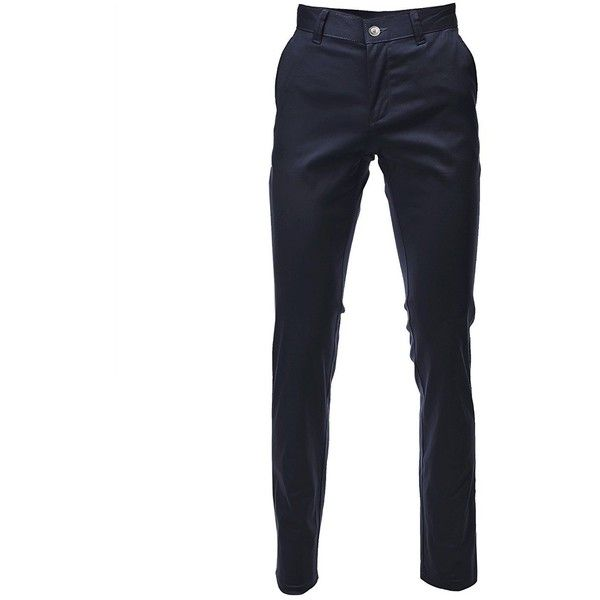 FLATSEVEN Mens Slim Fit Chino Pants Trouser Premium Cotton ($30) ❤ liked on Polyvore featuring men's fashion, men's clothing, men's pants, men's casual pants, mens chinos pants, mens slim fit pants, mens chino pants, mens wide leg pants and mens slim pants