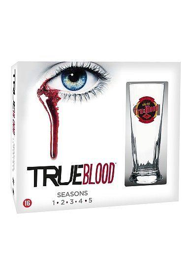 True Blood - Seizoen 1 t/m 5 (25DVD) incl. Glas #trueblood #tvserie #tvseries #dvd #limitededition #boxset