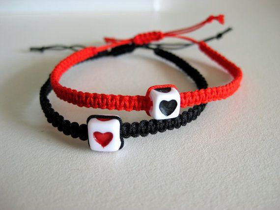 Cuore a cuore paio di bracciali braccialetti di ColorfulDesigne