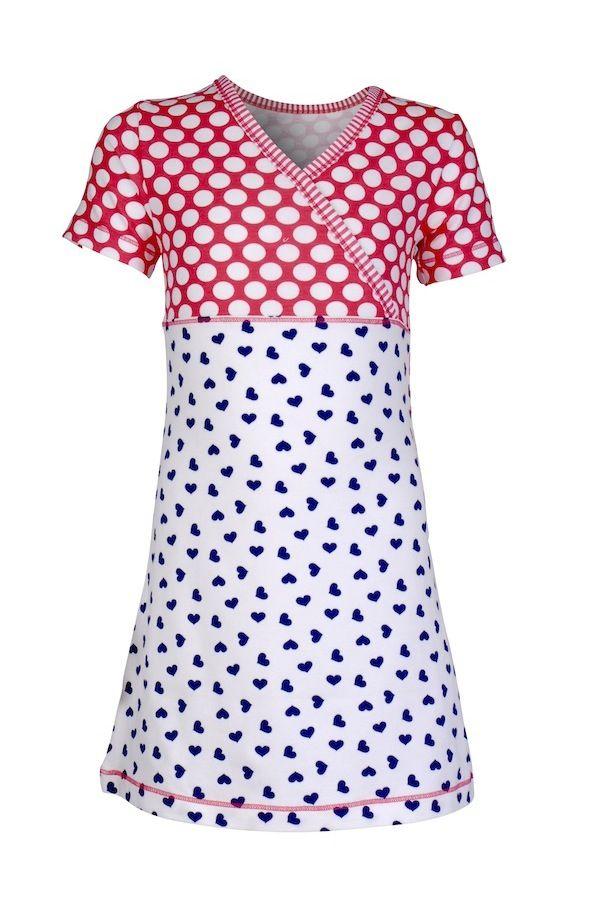 Claesen's nachtjapon voor meisje Hearts & Dots | #Claesens nightwear nightdress for girl Hearts & Dots #nachtmide #kidn #kinderpyjama #meisjespyjama #pjs #pajama
