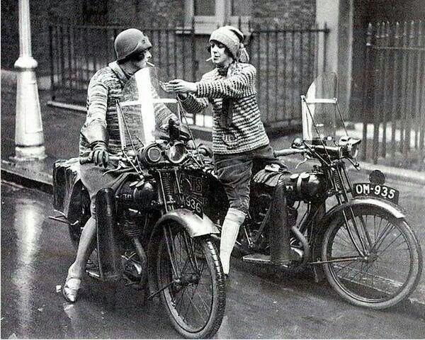 Women on motorcycles- 1930s