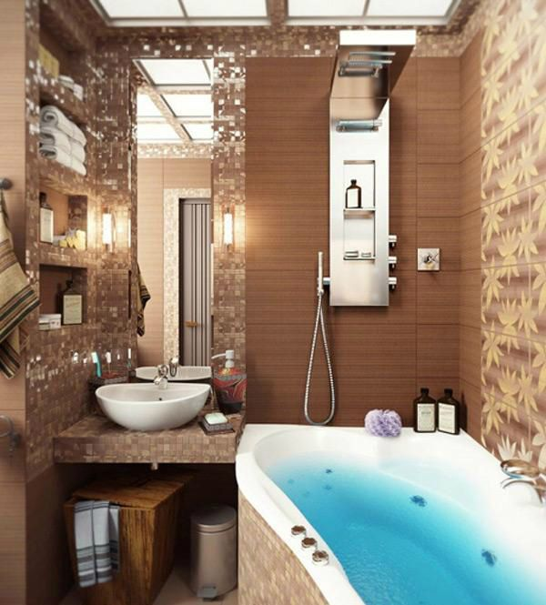 Best 25+ Brown small bathrooms ideas only on Pinterest Brown - design ideas for small bathrooms