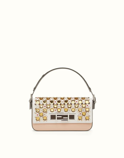 FENDI | 3BAGUETTE multi-coloured shoulder bag with rhinestones