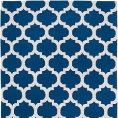 Frontier Moroccan Mediterranean Blue Hand Woven Wool Rug  USD330 for 5x8.  From zincdoor.com