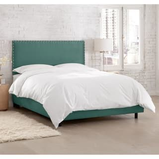 Skyline Furniture Premier Tidepool Nail Button Border Bed (Option: Full)