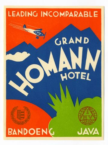 Jan Lavies, Aneta. grand homann hotel java label by Art of the Luggage Label, via Flickr