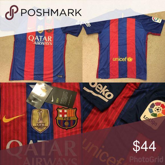 Barcelona 16/17 short sleeve home jersey Replica Jersey Nike Shirts Tees - Short Sleeve