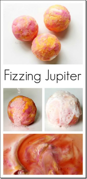 Fizzing Jupiter Science Project for Kids - This is such a fun science experiment as a gentle introduction for kids to learn about our solar system and planets. Great for toddler, preschool, and kindergarten age kids especially!